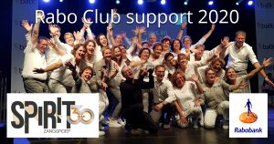 Zanggroep Spirit - Rabo Club Support 2020